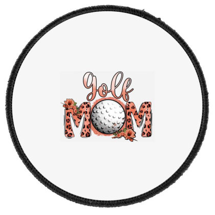 Leopard Golf Mom Round Patch Designed By Apollo