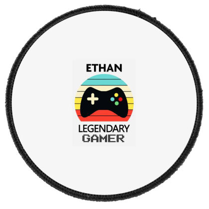 Ethan Name Round Patch Designed By Andromeda