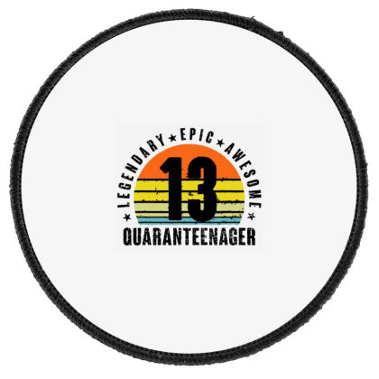 Epic Legend Awesome Quaranteenager Round Patch Designed By Andromeda