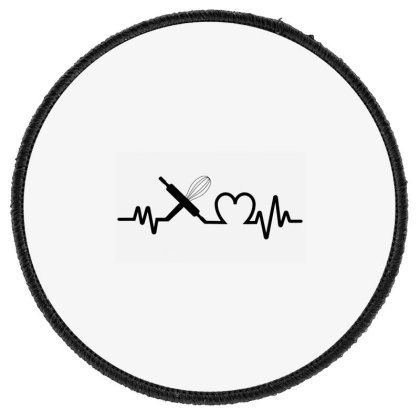 Baking Heartbeat Funny Baker T Shirt Round Patch Designed By Sam Soe