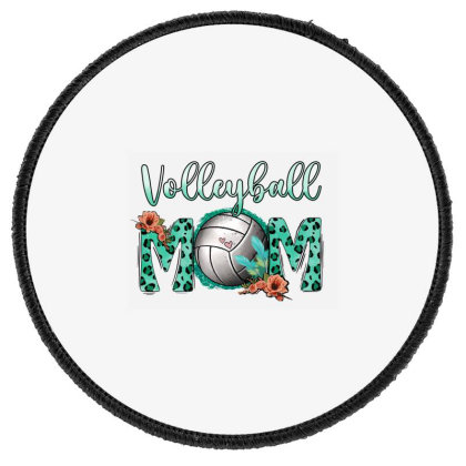 Leopard Volleyball Mom Round Patch Designed By Apollo