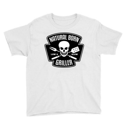Barbecue Natural Born Griller Youth Tee Designed By Sam Soe