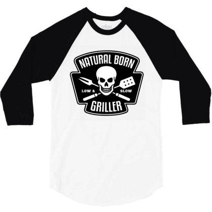 Barbecue Natural Born Griller 3/4 Sleeve Shirt Designed By Sam Soe