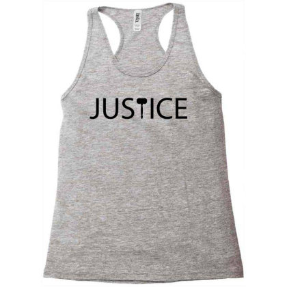 Justice Typography Racerback Tank Designed By L4l4pow