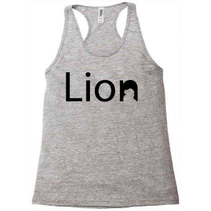Lion Creative Typography Racerback Tank Designed By L4l4pow