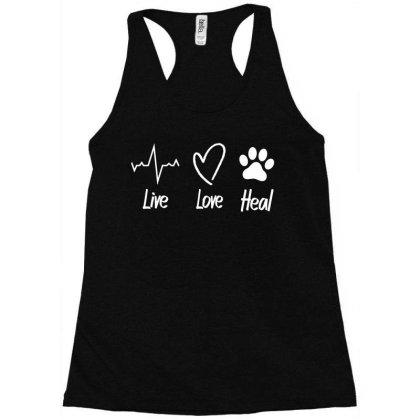 Live Love Heal Racerback Tank Designed By L4l4pow