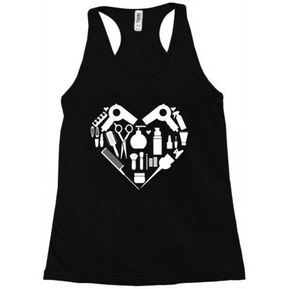 Love Hairdressing Racerback Tank Designed By L4l4pow