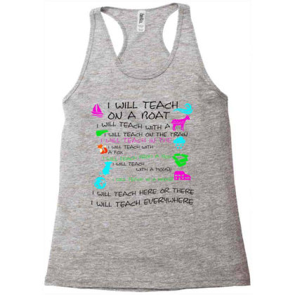 I Will Teach On A Boat A Goat Racerback Tank Designed By Allstar