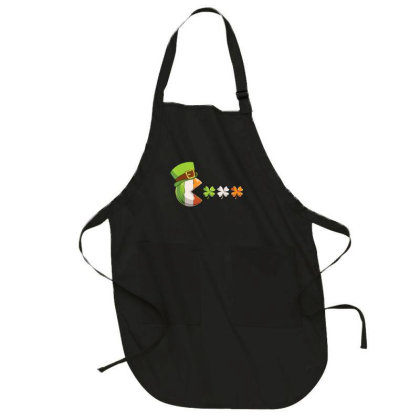 St. Patrick's Day Clovers Funny Full-length Apron Designed By Amber Petty