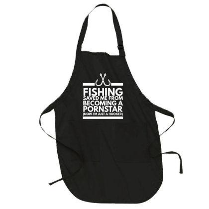 Fishing Saved Me Full-length Apron Designed By Zerotohero