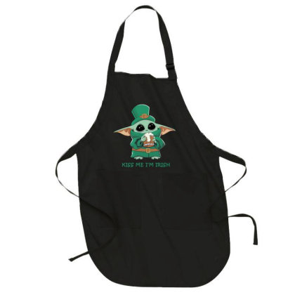 Baby Yoda Saint Patricks Day Kiss Me I'm Irish Full-length Apron Designed By Li Ova