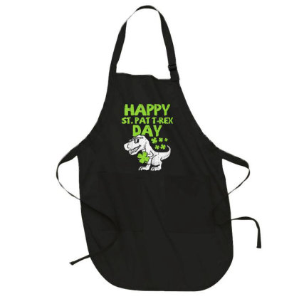 Happy St Pat Trex Day Full-length Apron Designed By Koopshawneen