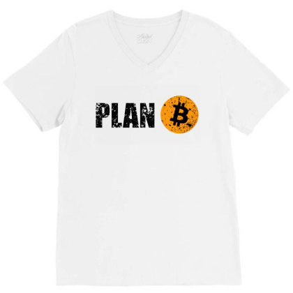 Bitcoin Plan B T Shirt V-neck Tee Designed By Sam Soe