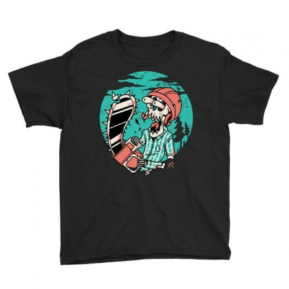 Skullchain Saw Youth Tee Designed By Quilimo
