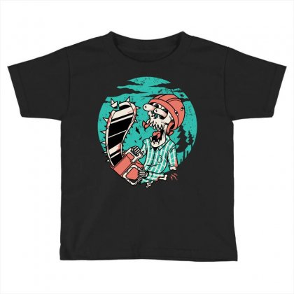 Skullchain Saw Toddler T-shirt Designed By Quilimo