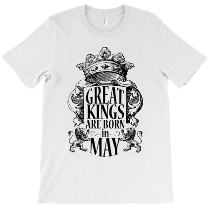 Kings Are Born In May_dark T-shirt Designed By Arteriamix