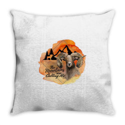 The Mountains Are Calling Me Throw Pillow | Artistshot