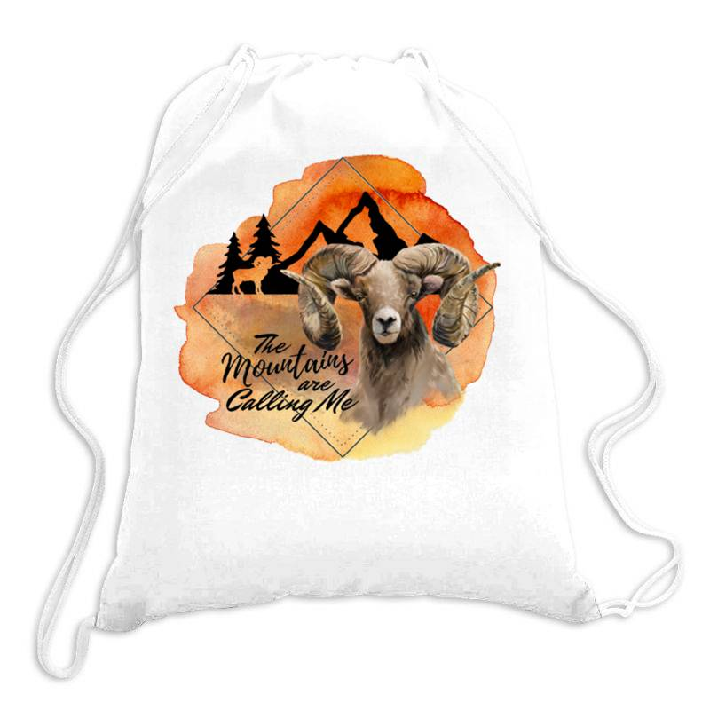 The Mountains Are Calling Me Drawstring Bags | Artistshot