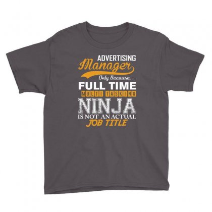 Advertising Manager Ninja Job Title, Youth Tee Designed By Rardesign
