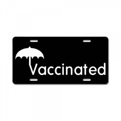 vaccinated merch License Plate | Artistshot