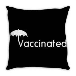 vaccinated merch Throw Pillow | Artistshot