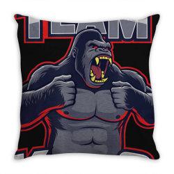 team kong true king of monsters t shirt Throw Pillow | Artistshot