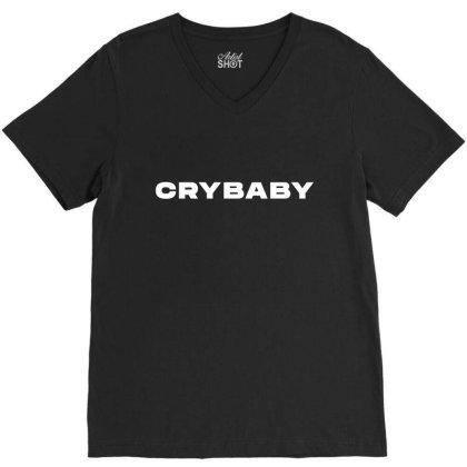Crybaby V-neck Tee Designed By Zerotohero