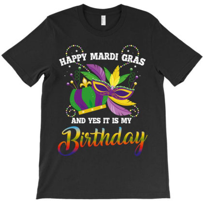 Happy Mardİ Gras Birthday T-shirt Designed By Wizarts