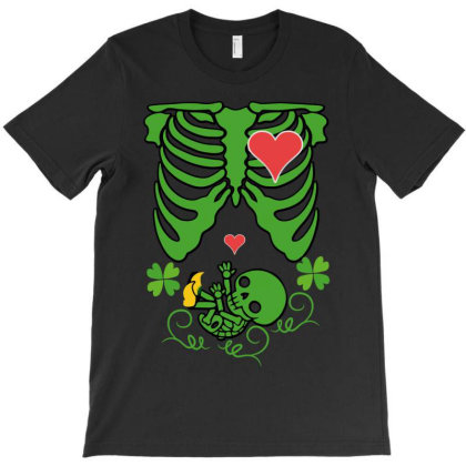 Skeleton St Patrick T-shirt Designed By Wizarts