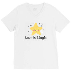 Love is magic, Star V-Neck Tee | Artistshot
