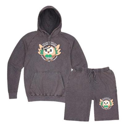 Team Rowlet Vintage Hoodie And Short Set Designed By Rardesign