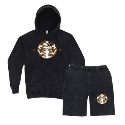 Starbucks Vintage Hoodie And Short Set Designed By Sabriacar