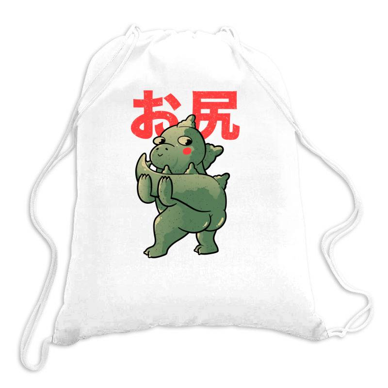 Buttzilla Cute Funny Monster Gift Drawstring Bags | Artistshot