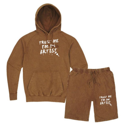 Trust Me I'm An Artist Vintage Hoodie And Short Set Designed By Tonyhaddearts