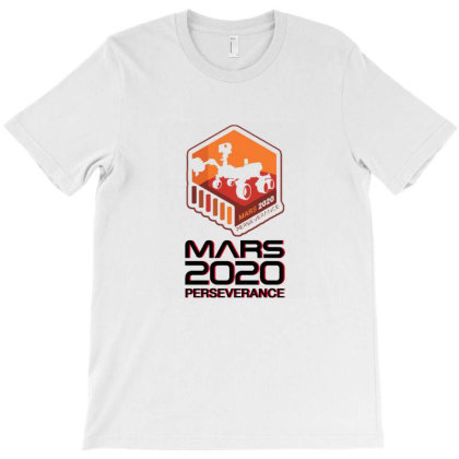 Nasa Perseverance Rover Mars 2020 White T-shirt Designed By Kroos-sell