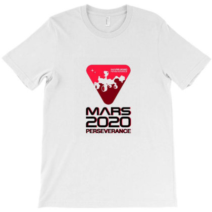 Nasa Perseverance Rover Mars 2020 Black V2 T-shirt Designed By Kroos-sell