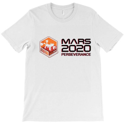 Nasa Perseverance Rover Mars 2020 Black V6 T-shirt Designed By Kroos-sell