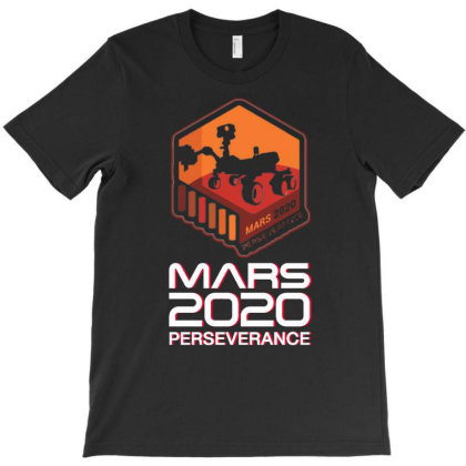Nasa Perseverance Rover Mars 2020 White V7 T-shirt Designed By Kroos-sell