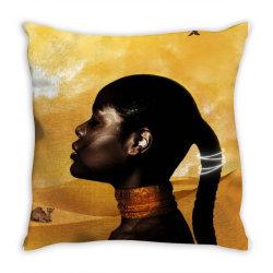African Princess Throw Pillow | Artistshot