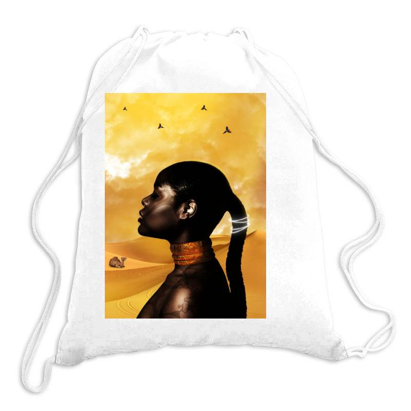 African Princess Drawstring Bags | Artistshot
