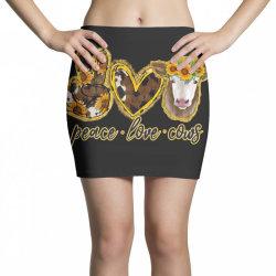 Peace Love Cows Mini Skirts | Artistshot