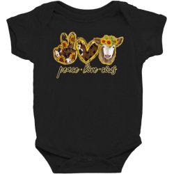 Peace Love Cows Baby Bodysuit Designed By Badaudesign