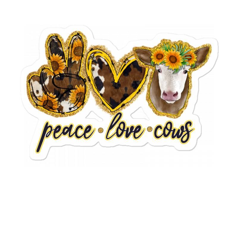 Peace Love Cows Sticker | Artistshot