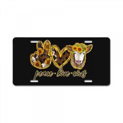 Peace Love Cows License Plate | Artistshot
