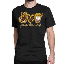 Peace Love Cows Classic T-shirt Designed By Badaudesign