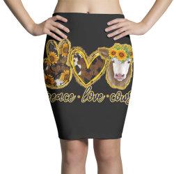 Peace Love Cows Pencil Skirts | Artistshot