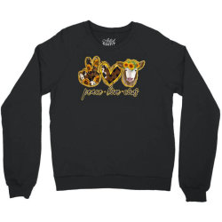 Peace Love Cows Crewneck Sweatshirt | Artistshot