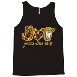 Peace Love Cows Tank Top | Artistshot
