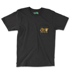 Peace Love Cows Pocket T-shirt Designed By Badaudesign