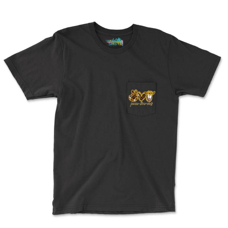 Peace Love Cows Pocket T-shirt | Artistshot